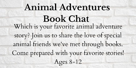Animal Adventures Book Chat tickets