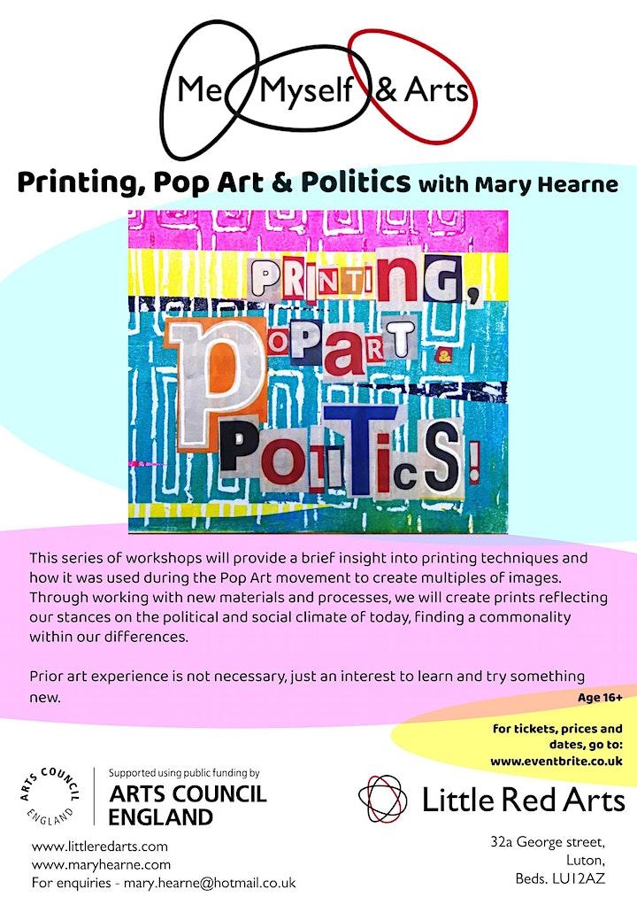 Printing, Pop Art and Politics - Me, Myself & Arts - Luton image
