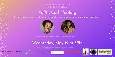 Politicized Healing with Mark-Anthony Clayton-Johnson and Prentis Hemphill tickets
