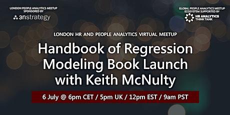 London People Analytics Meetup: Handbook of Regression Modeling Book Launch tickets