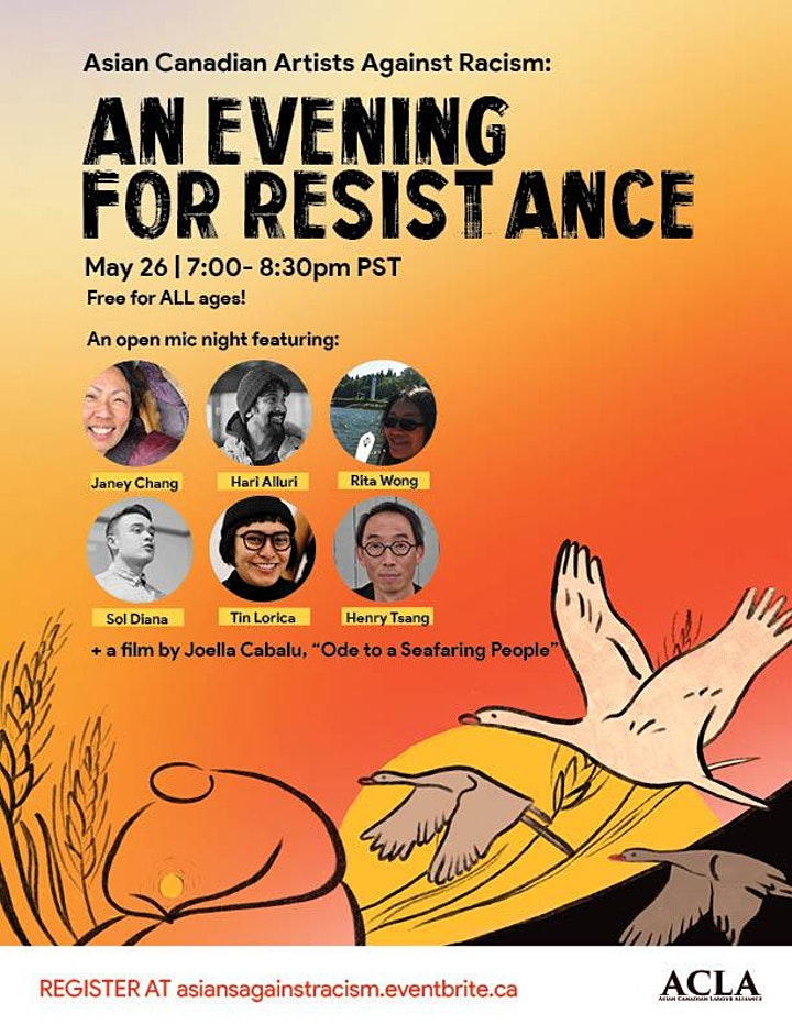 Asian Canadian Artists Against Racism: an Evening for Resistance! image