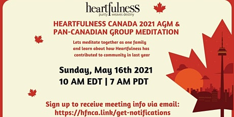 Heartfulness Canada 2021 AGM & PAN-Canadian group Meditation tickets