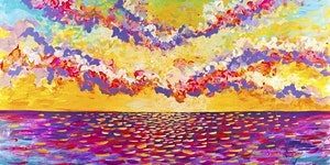 Kids School Holidays 'How to Paint a Sunrise' Workshop