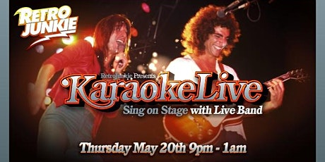 LIVE Band Karaoke at Retro Junkie @ 9PM tickets