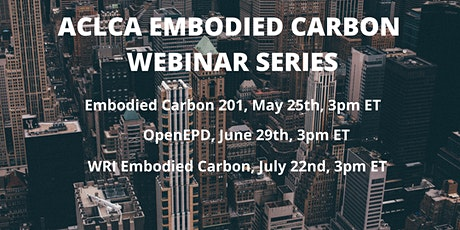 Embodied Carbon Series: OpenEPD tickets