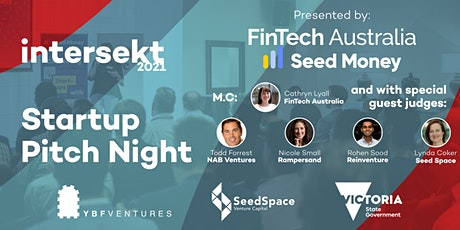 FinTech Australia Intersekt 2021 Startup Pitch Night tickets
