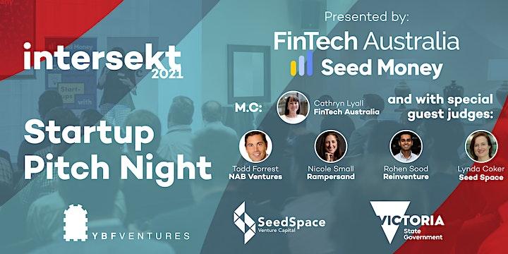 FinTech Australia Intersekt 2021 Startup Pitch Night image