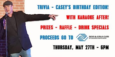 Thursday Trivia With Dinner - Casey's Birthday Edition! + Karaoke! tickets