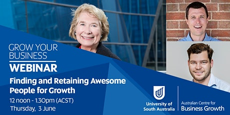 Webinar - Finding and Retaining Awesome People for Growth tickets