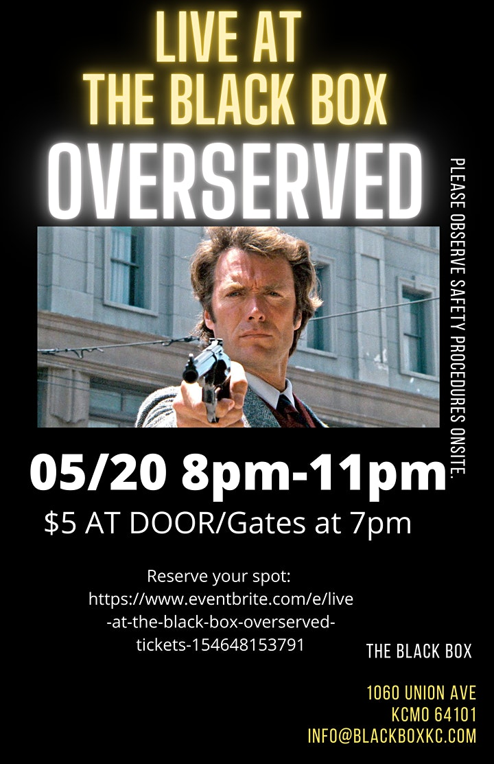 LIVE AT THE BLACK BOX: OVERSERVED image