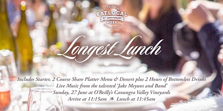 Longest Lunch at O'Reilly's Canungra Valley Vineyards tickets