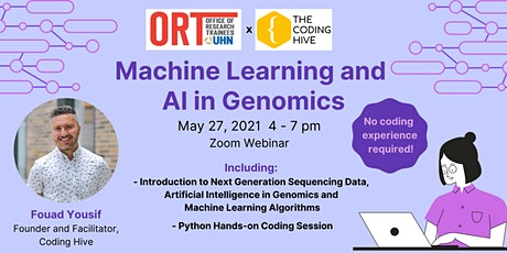 ORT and Coding Hive present: Machine Learning and AI in Genomics tickets