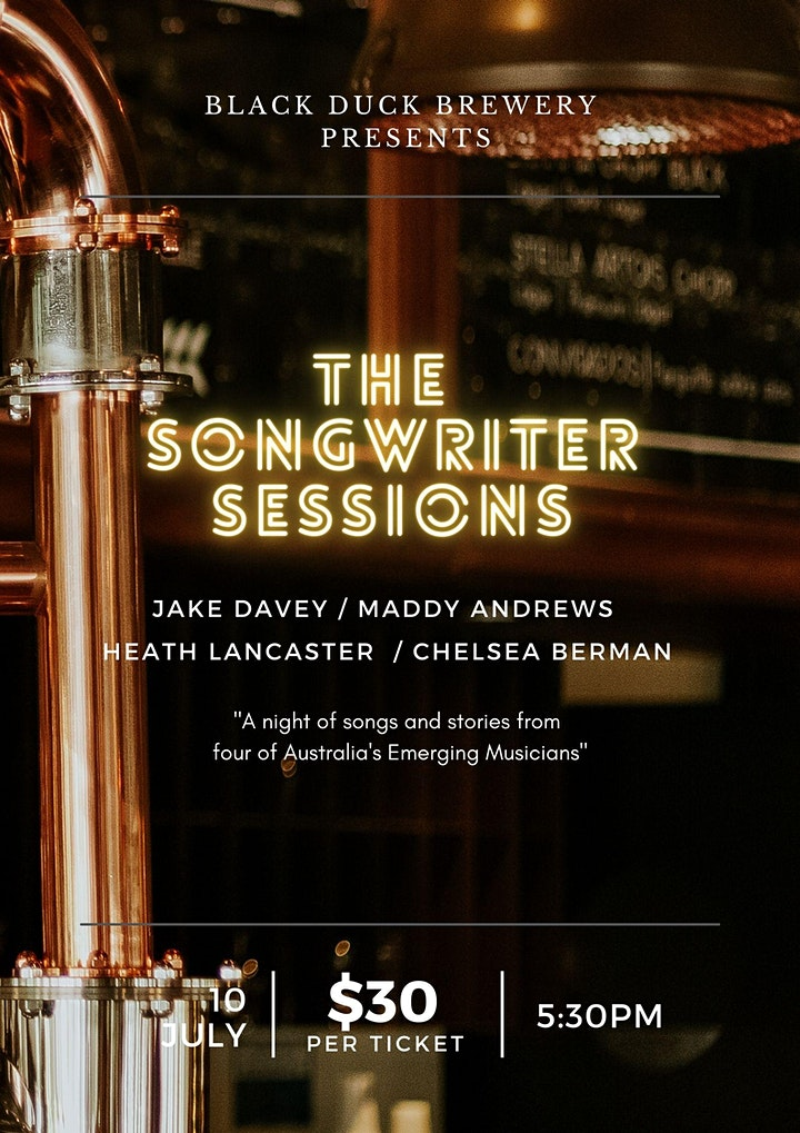 The Songwriter Sessions - Black Duck Brewery image