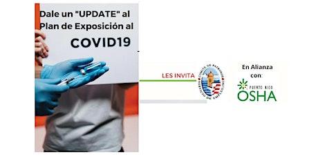 """Dale un """"UPDATE"""" al Plan de Exposición del COVID-19 entradas"""