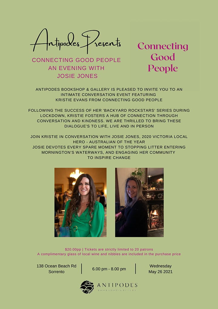 Connecting Good People - An Evening with Josie Jones image