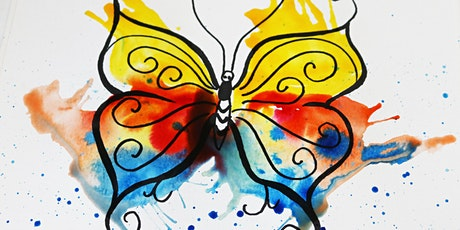 Painting a Butterfly with Watercolors, All ages are welcome tickets