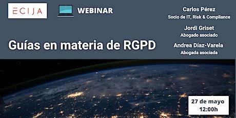 Guías en materia de RGPD entradas