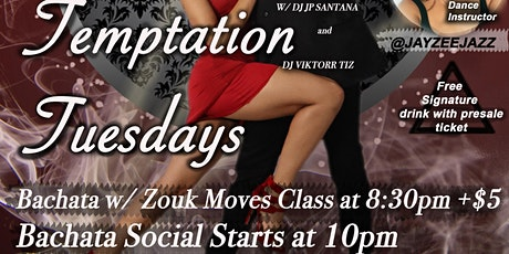 """Temptation Tuesdays"" Bachata Social at the Upscale ""Barranco Lounge"" tickets"
