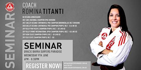 Coach Romina Titanti Seminar At GB Surfers Paradise tickets