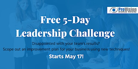 FREE 5 Day Leadership Challenge tickets