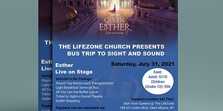 Bus Trip to Sight and Sound Theaters to see Queen Esther tickets