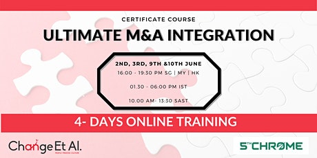 Ultimate M&A Integration Certification Course tickets