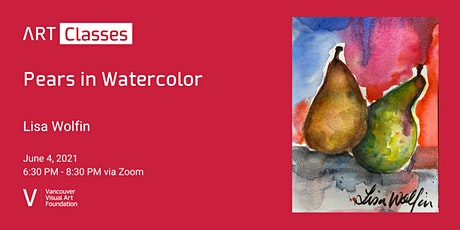 Pears in Watercolor - Art Class tickets