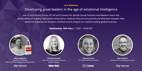Developing great leaders in the age of emotional intelligence tickets