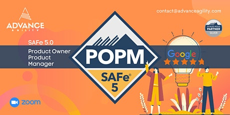 SAFe 5.0 POPM (Online/Zoom) July 29-30, Thu-Fri, Sydney Time (AET) tickets