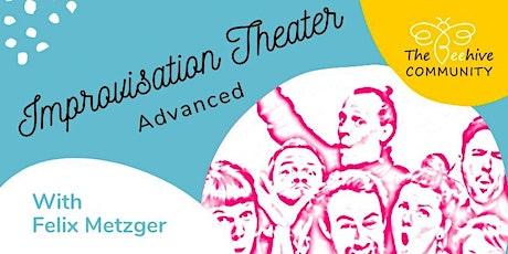 Improvisation Theatre webinar advanced tickets