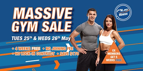 Plus Fitness Darlinghurst BIGGEST EVER MEMBERSHIP SALE tickets