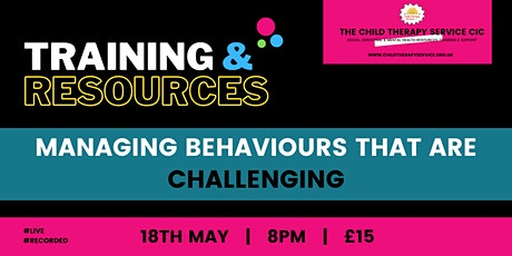 Managing Behaviours that are Challenging tickets