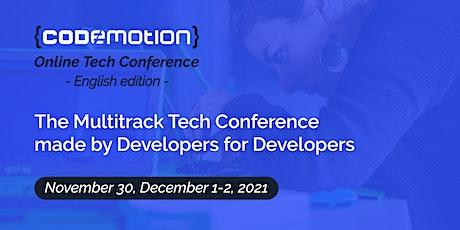 Codemotion Online Tech Conference 2021 - English edition | Autumn entradas