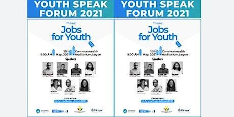 YouthSpeak Forum 2021 tickets