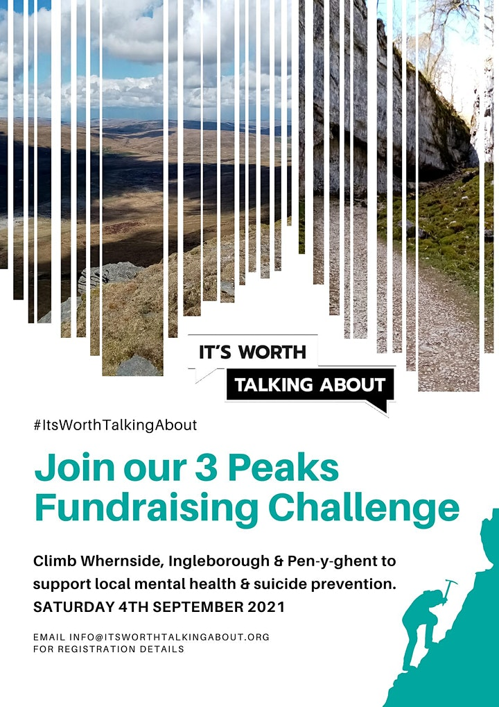 #ItsWorthTalkingAbout 3 Peak Fundraising Challenge image