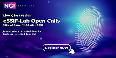 Q&A session current eSSIF-Lab Open Calls tickets