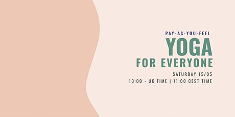 ONLINE Pay-as-you-feel Yoga for EVERYONE ⚡️ tickets