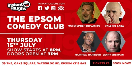 Stand up comedy in Epsom tickets