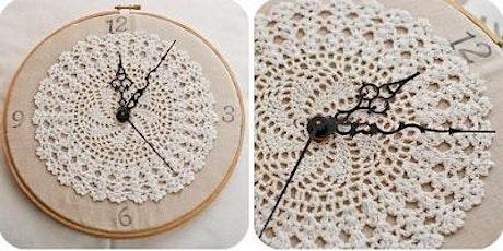 Embroidery Hoop Clock Workshop tickets