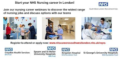 Start your Nursing Career in London – special careers webinar tickets