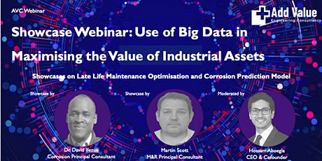 AVC Showcase Webinar - Use of Big Data in Maximising the Value of Assets tickets