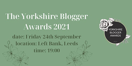The Yorkshire Blogger Awards 2021 tickets