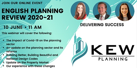 Online Event: An Overview of English Planning Changes 2020-21 tickets