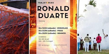 Projeto Trajetórias com o artista plástico Ronald Duarte bilhetes