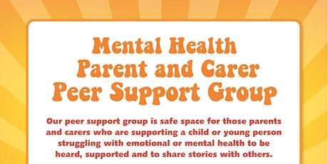 Mental Health Peer Support Group CYPS information tickets