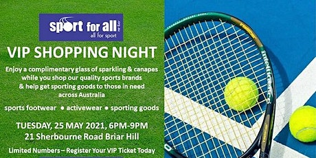 Sport for All VIP Shopping Night tickets