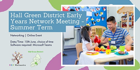 Hall Green District Early Years Network Meeting - Summer Term tickets