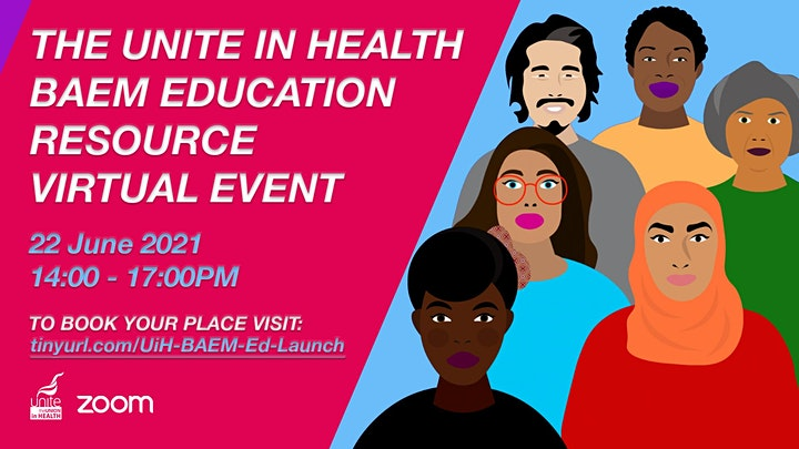Unite in Health BAEM Education Resource Virtual Event image