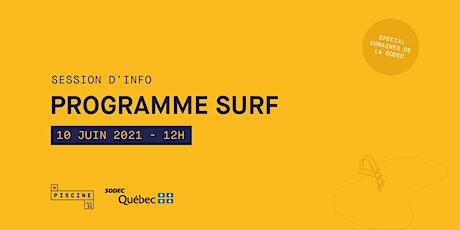 SURF SODEC - Session d'information tickets