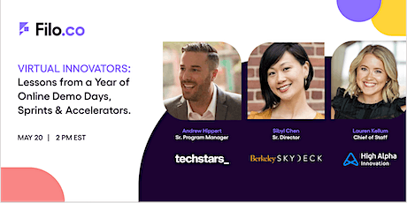 Virtual Innovators: Lessons from Online Demo Days, Sprints & Accelerators tickets